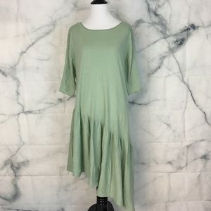 Zara Knit Oversized Asymmetrical Ruffle Dress